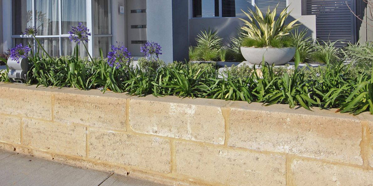 landscaping perth limestone block wall