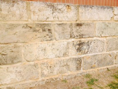 natural limestone block wall