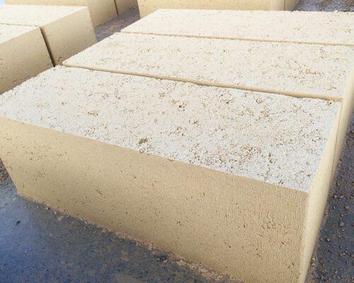 cream reconstituted limestone blocks