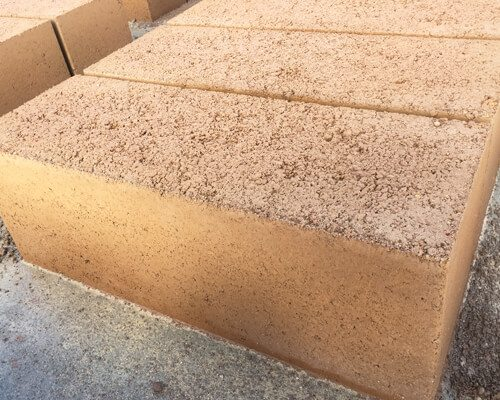 red earth reconstituted limestone blocks