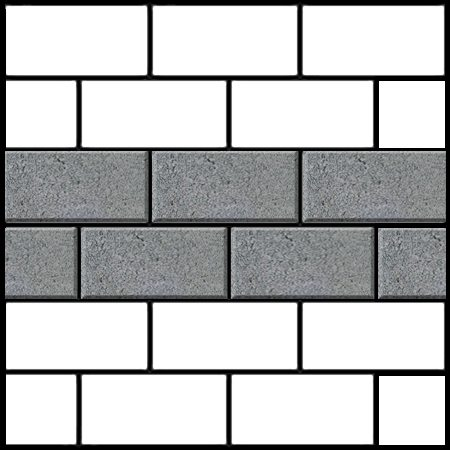 stretcher bond brick paving