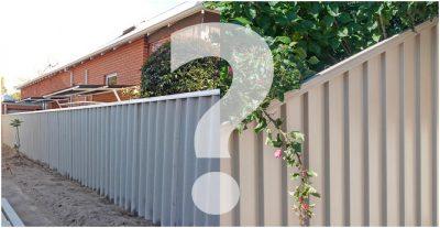 Colorbond fencing Hardie fencing Perth