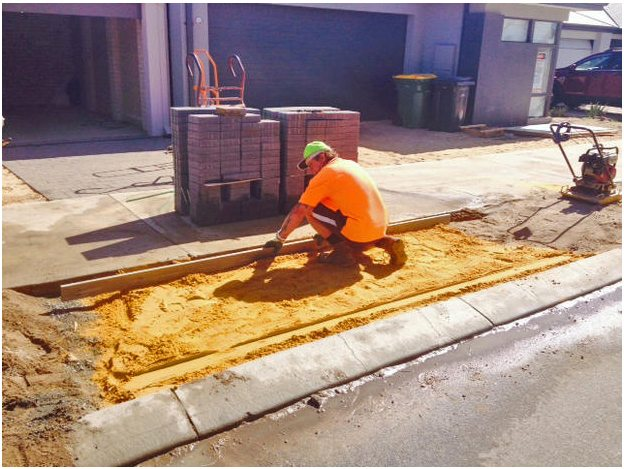 Council crossover installation brikies sand Perth