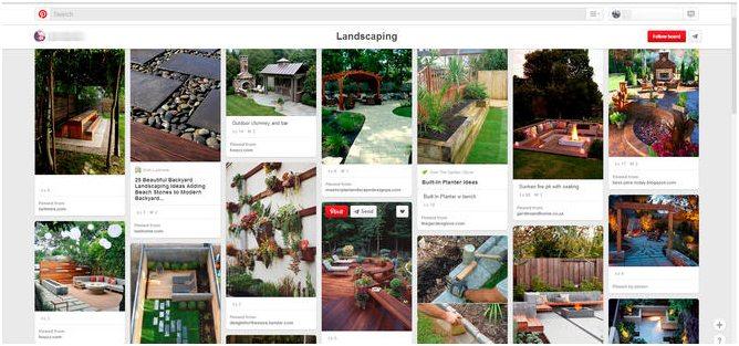 collection of landscape design