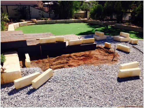 Limestone Blocks garden edge/ planter box for experienced