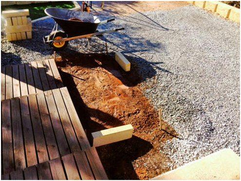 limestone block garden bed