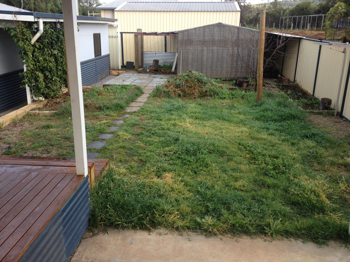 artificial lawn perth before artificial grass installation