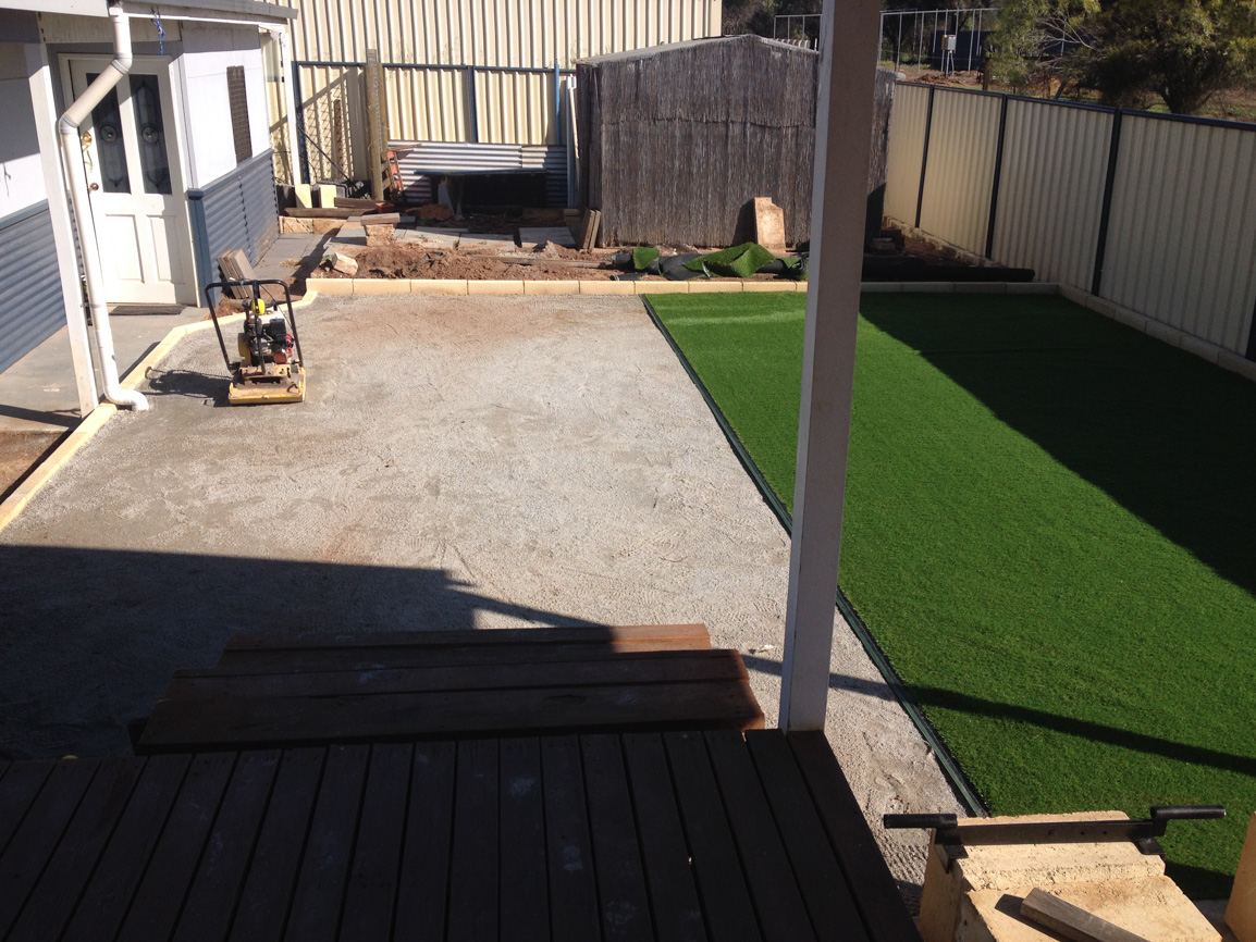 installation of artificial grass