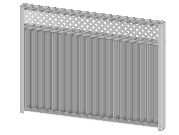 Colorbond fence extension lattice