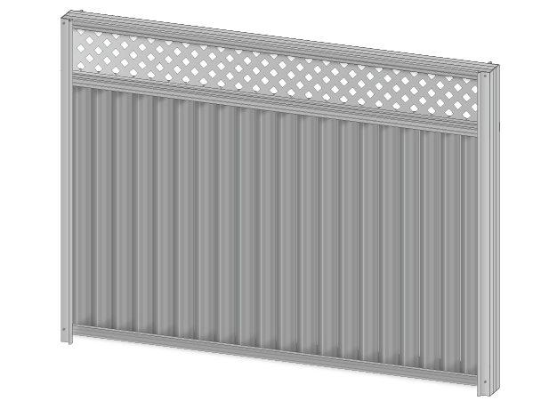 Colorbond fence extension lattice
