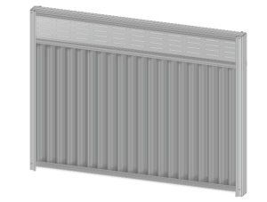 Colorbond fence extension slattice