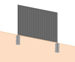 sloped colorbond fence panel