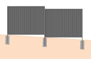 stepped colorbond fence panel