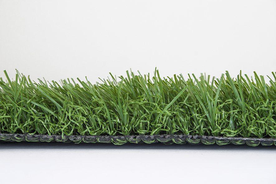 artificial grass terrace green side view