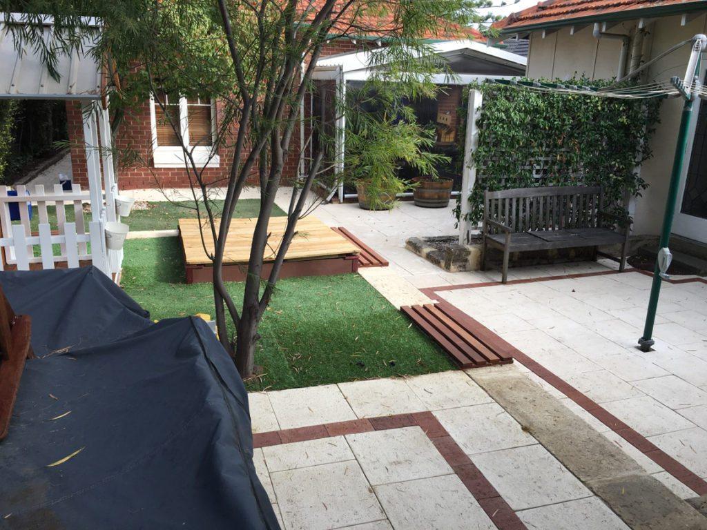 brick paving liquid limestone artificial grass