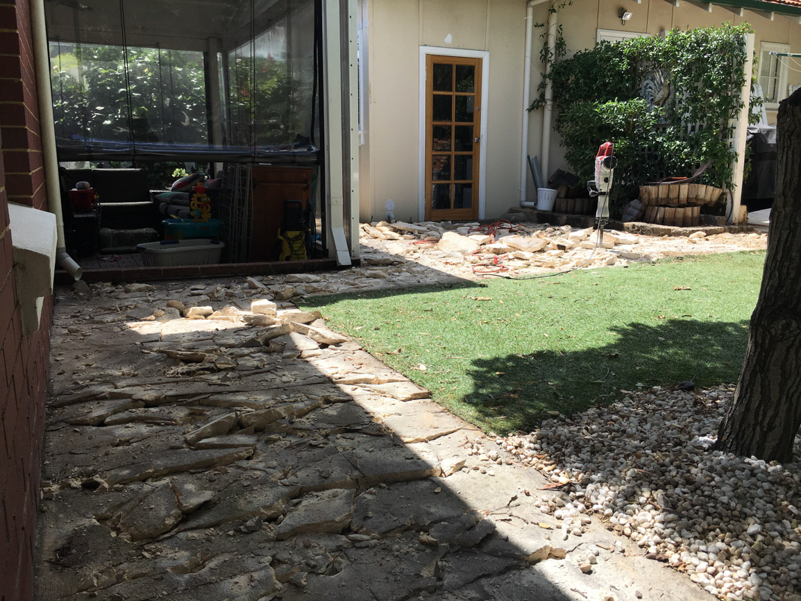 liquid limestone for paths and patios