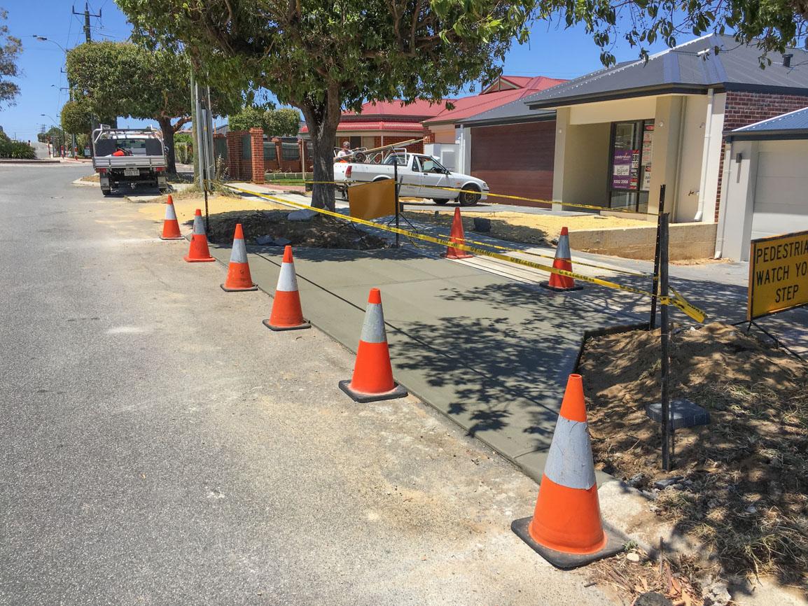 concrete council vehicle crossover contractors tuart hill