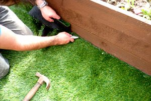 artificial turf perth cutting in