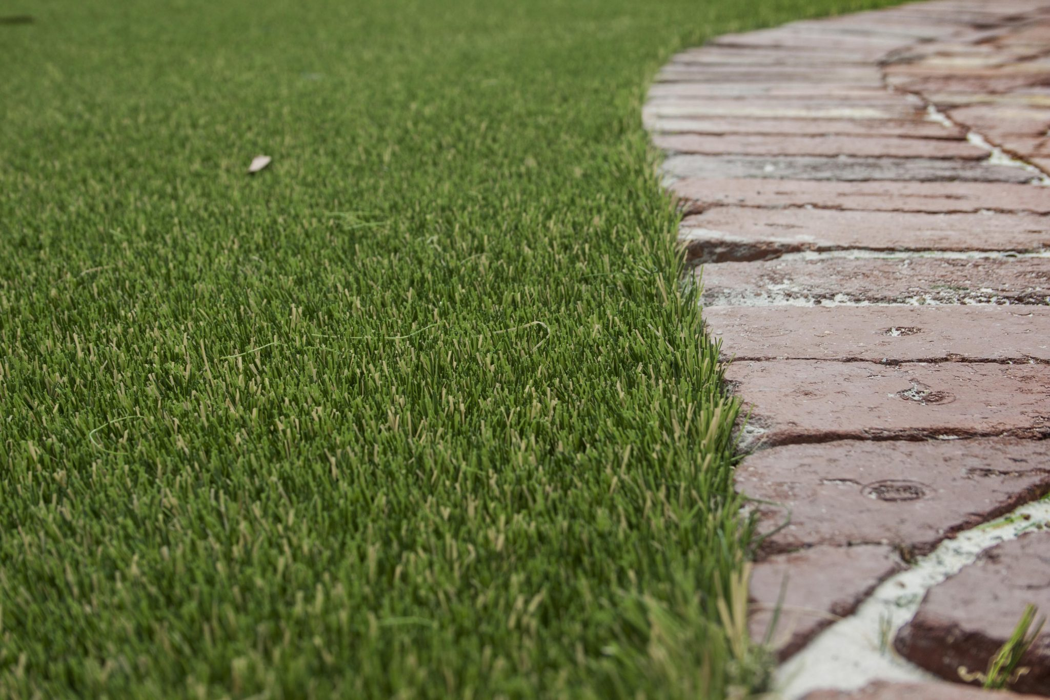 artificial grass perth recycled brick path