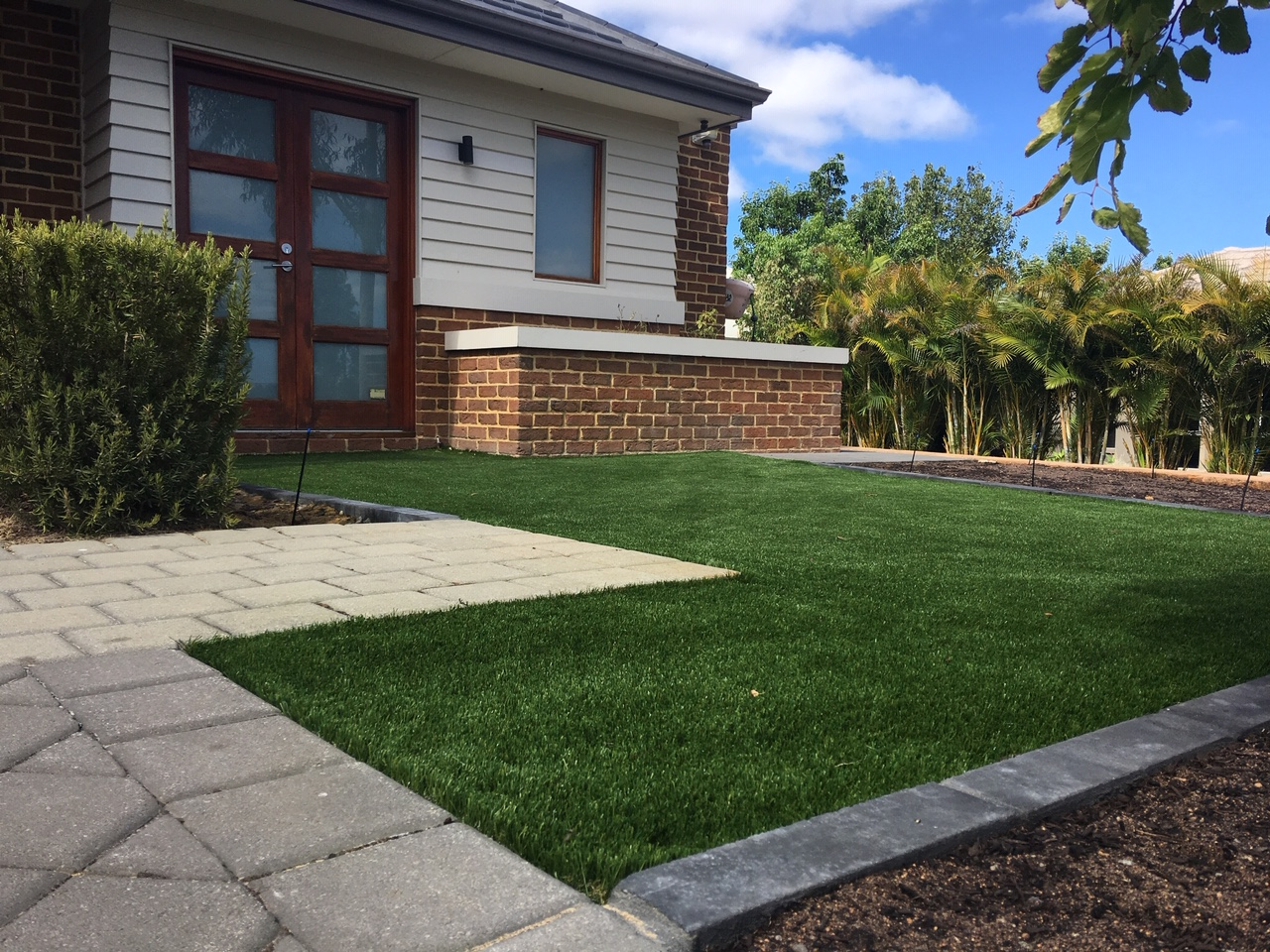 Perth artificial grass installed