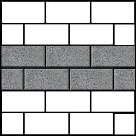stretcher bond brick paving