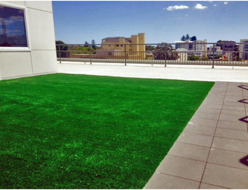 Commercial artificial grass installation roof top West Perth