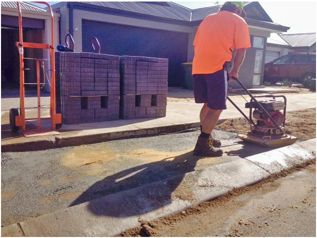 Council crossover compacting perth