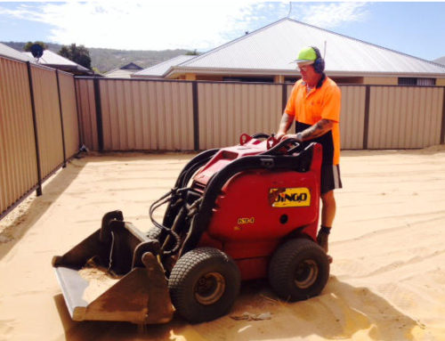 Dingo Hire Perth with experienced operator for new limited access residential blocks.