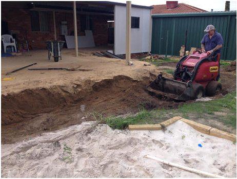 excavation for limestone retaining blocks perth