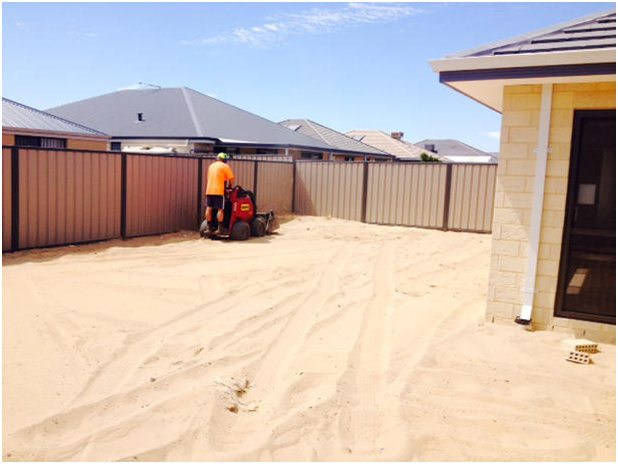 Landscaping a new block Perth