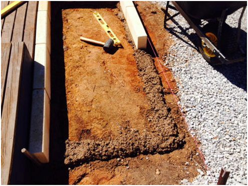 placing your limestone block edging