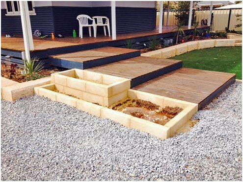 limestone block garden edging perth