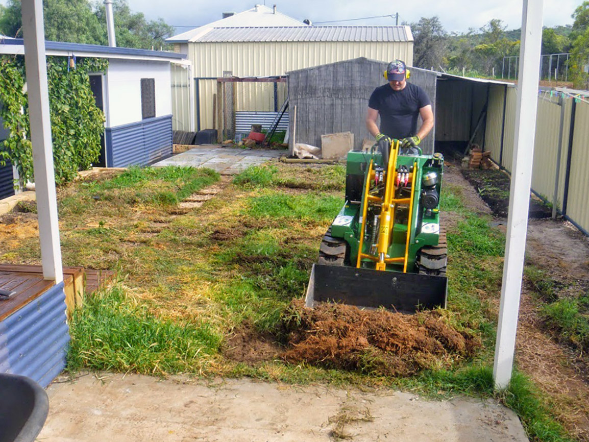 excavation before artificial grass synthetic turf perth