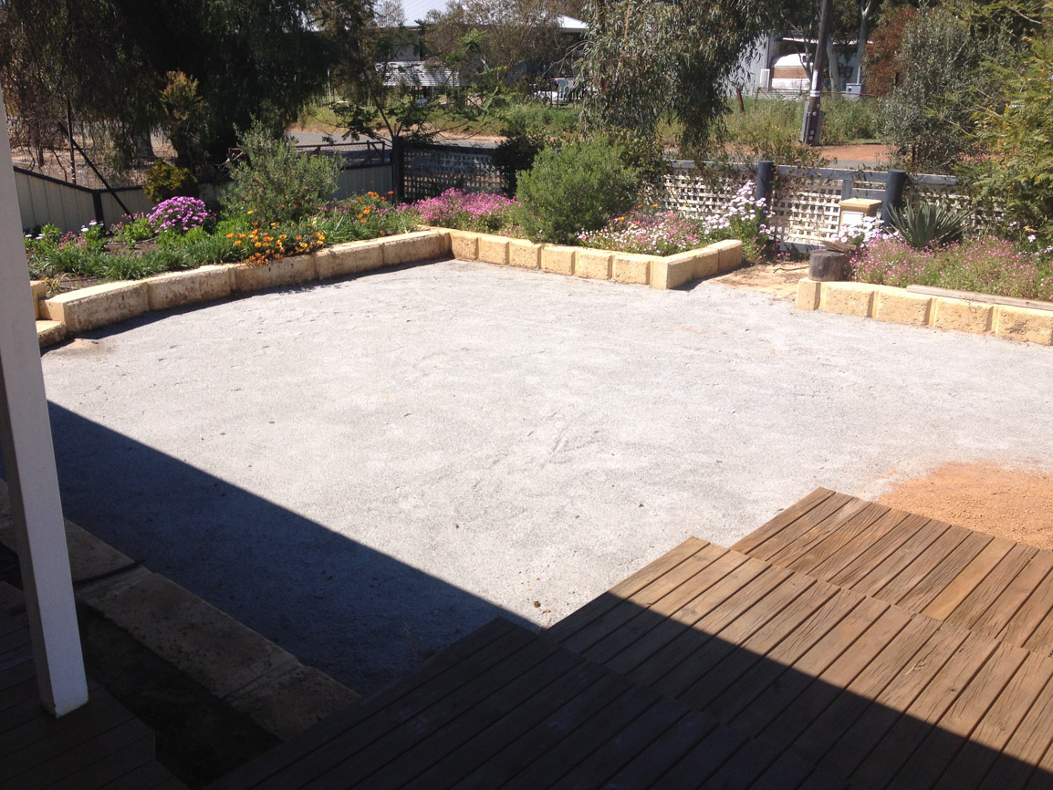 cracker dust substrate for artificial grass installation