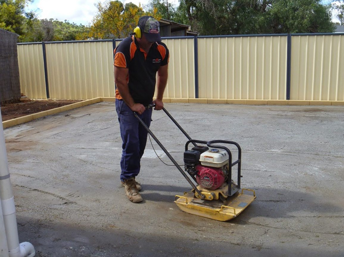 compacting artificial turf perth